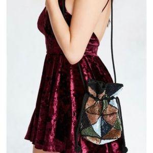 Urban Outfitters Suki Mini Drawstring Sequin Bag
